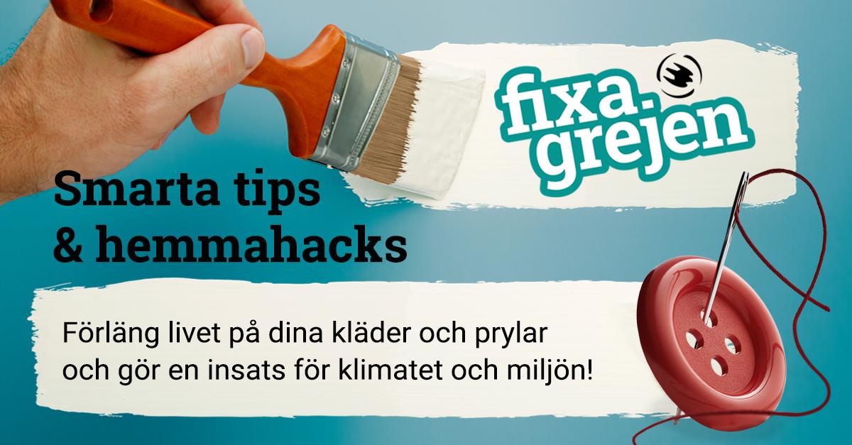 Fixa Grejen – smarta tips och hemmahacks